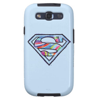 Supergirl Colourful Sketch Logo Galaxy S3 Case