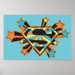 Supergirl Colourful Stars Logo