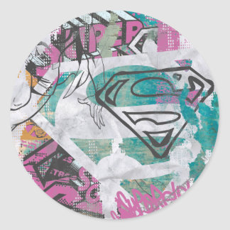 Supergirl Comic Capers Pattern 11 Stickers