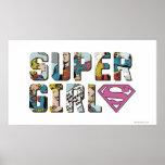 Supergirl Comic Logo Poster
