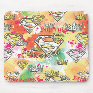 Supergirl Crown Pattern Mouse Pad