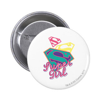 Supergirl Cursive 2 Inch Round Button