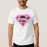 Supergirl Distressed Logo Black and Pink Tshirt