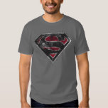 Supergirl Distressed Logo Black and Red Tshirts