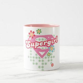 Supergirl Flower Madness Coffee Mugs