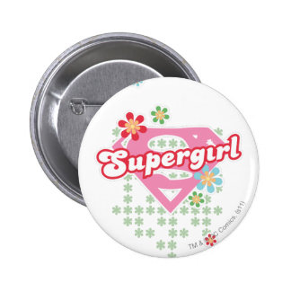 Supergirl Flower Madness Pins