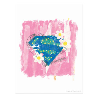Supergirl for Peace Pink Postcard