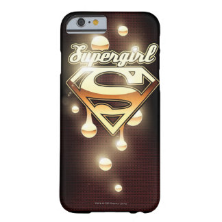 Supergirl Gold Drips Barely There iPhone 6 Case