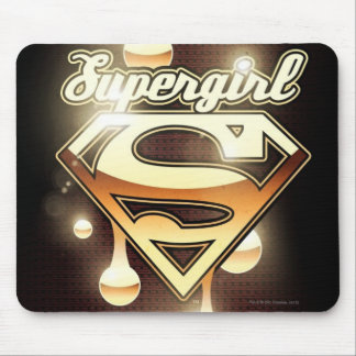 Supergirl Gold Drips Mouse Pad