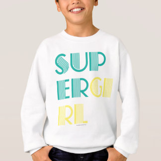 Supergirl Green and Yellow Sweatshirt