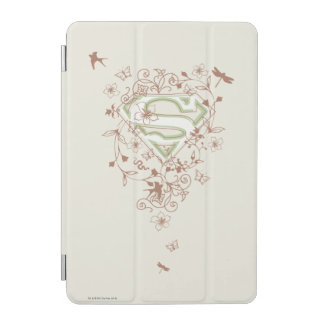 Supergirl Green Floral Logo iPad Mini Cover