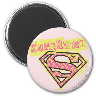 Supergirl Grunge Logo Pink Magnets