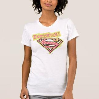 Supergirl Grunge Logo Pink T Shirts