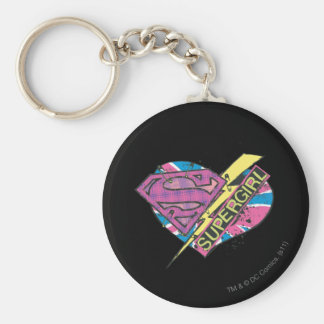 Supergirl Heart and Bolt Keychain