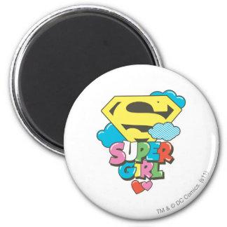 Supergirl J-Pop 5 2 Inch Round Magnet