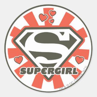 Supergirl J-Pop 7 Classic Round Sticker
