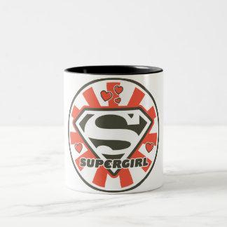 Supergirl J-Pop 7 Two-Tone Coffee Mug