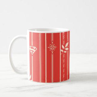 Supergirl Leaf Pattern Red Coffee Mug