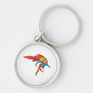 Supergirl Leaps Right Keychain