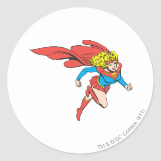Supergirl Leaps Right Stickers
