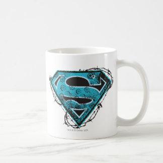 Supergirl Logo Barbed Wire and Flowers Basic White Mug