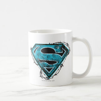 Supergirl Logo Barbed Wire and Flowers Classic White Coffee Mug