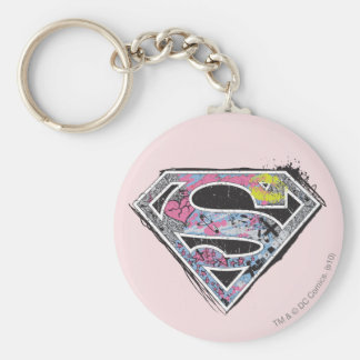 Supergirl Logo Collage Keychain