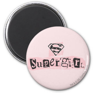 Supergirl Logo Ransom Note Fridge Magnets