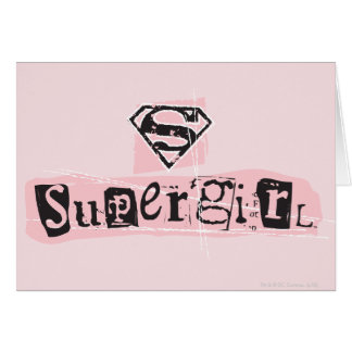 Supergirl Logo Ransom Note Greeting Card
