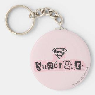 Supergirl Logo Ransom Note Keychain