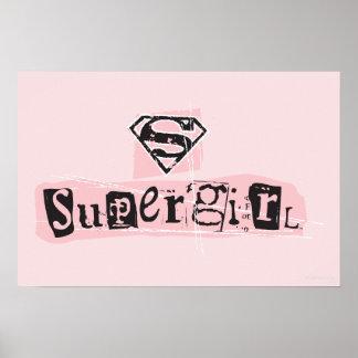 Supergirl Logo Ransom Note Poster