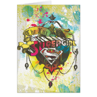 Supergirl Logo The Lux Greeting Card