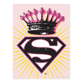 Supergirl Logo with Crown Postcard