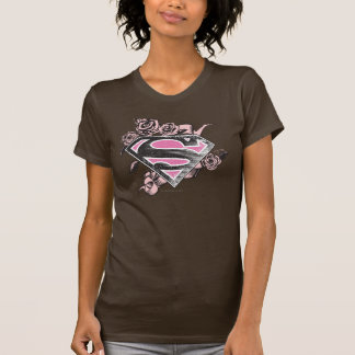 Supergirl Logo with Roses Tshirt