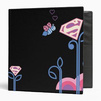 Supergirl Love Bee 3 Ring Binders