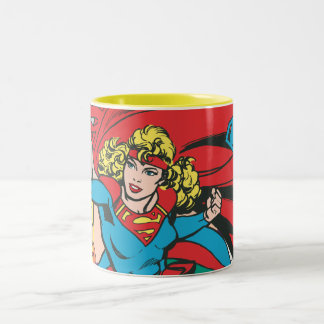 Supergirl Love Conquers Two-Tone Coffee Mug