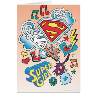 Supergirl Love Greeting Card