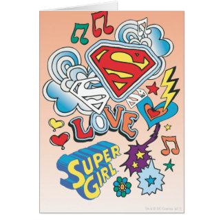 Supergirl Love Greeting Card
