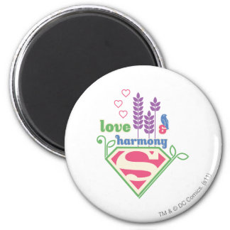 Supergirl Love Harmony Refrigerator Magnets
