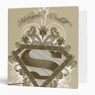 Supergirl Metropolis Ballet Brown 3 Ring Binders