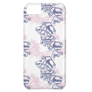 Supergirl Pink and Purple Pattern 2 Cover For iPhone 5C