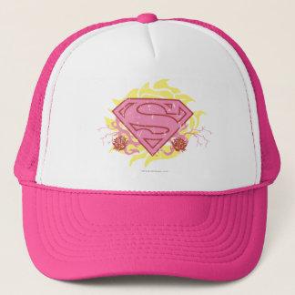 Supergirl Pink Flowers Trucker Hat