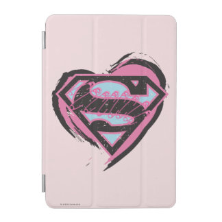 Supergirl Pink Logo in Heart iPad Mini Cover