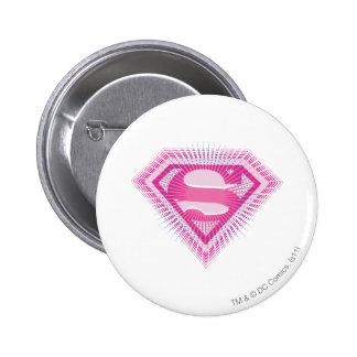 Supergirl Pink Logo Pins