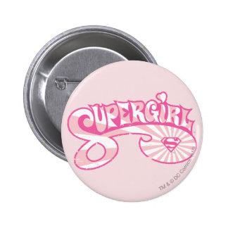 Supergirl Pink Logo Star Burst Pinback Buttons