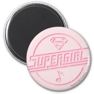 Supergirl Pink Music Note Magnets