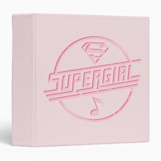 Supergirl Pink Music Note Vinyl Binders
