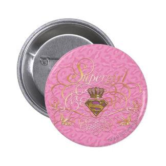 Supergirl Pink Pinback Button