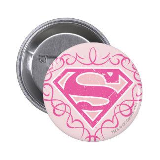 Supergirl Pink Stripes Pins