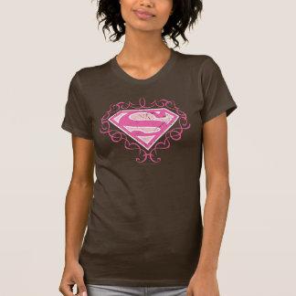 Supergirl Pink Stripes T-shirts